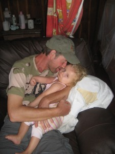 kisses from papa!